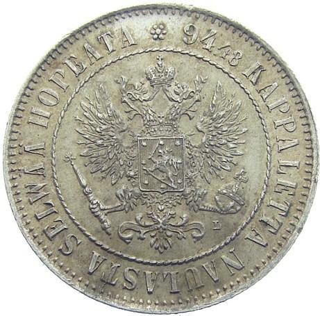 1 марка 1908 – 1 марка 1908 года L