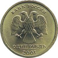1 рубль 2001 – 10-летие Содружества Независимых Государств